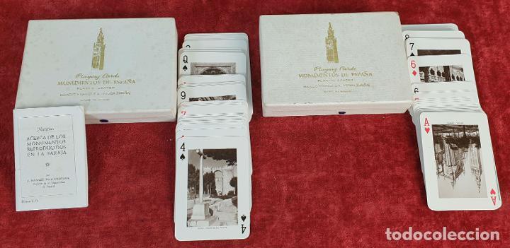 PAREJA DE JUEGO DE CARTAS. MONUMENTOS DE ESPAÑA. HERACLIO FOURNIER. 1959. (Juguetes y Juegos - Cartas y Naipes - Otras Barajas)