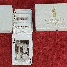 Barajas de cartas: PAREJA DE JUEGO DE CARTAS. MONUMENTOS DE ESPAÑA. HERACLIO FOURNIER. 1959.. Lote 187289310