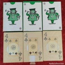 Barajas de cartas: 3 JUEGOS DE CARTAS. PUBLICIDAD DE FINLEY. HERACLIO FOURNIER. CIRCA 1960. . Lote 187297077