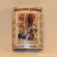 Barajas de cartas: LOTE BARAJA DE POKER - PLAYING CARDS AFRICA'S BIG FIVE. Lote 187442586