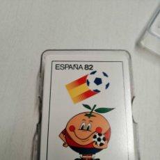 Barajas de cartas: JUEGO DE CARTAS POKER (CON PROPAGANDA NARANJITO ESPAÑA 82 EN REVERSO. Lote 187506811
