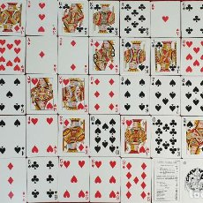 Barajas de cartas: JUEGO DE 54 CARTAS. BARAJA DE POKER COMPLETA. HERACLIO FOURNIER. CIRCA 1960. . Lote 187562686