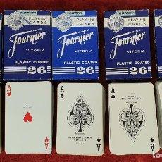 Barajas de cartas: LOTE DE 5 BARAJAS DE 54 CARTAS. HERACLIO FOURNIER. Nº 26. CIRCA 1960. . Lote 187563538
