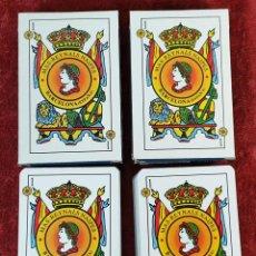 Barajas de cartas: PAREJA DE JUEGO DE 50 CARTAS. BARAJA ESPAÑOLA. MAS REYNALS. SIGLO XX. . Lote 187564955