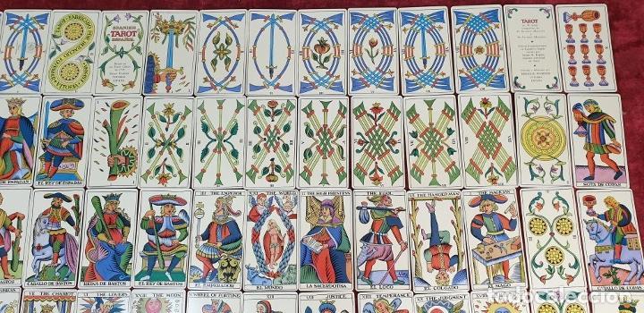 Barajas de cartas: TAROT ESPAÑOL. 78 CARTAS. COMPLETO. REPRODUCCIÓN DE UNO DE 1736. HERACLIO FOURNIER. 1975. - Foto 7 - 187665121