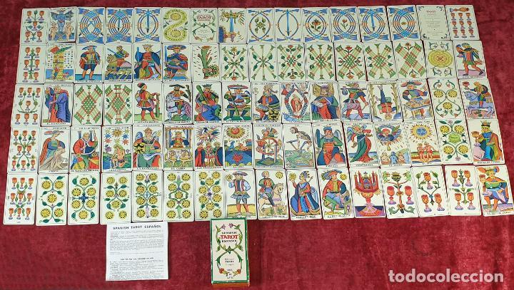 TAROT ESPAÑOL. 78 CARTAS. COMPLETO. REPRODUCCIÓN DE UNO DE 1736. HERACLIO FOURNIER. 1975. (Juguetes y Juegos - Cartas y Naipes - Barajas Tarot)