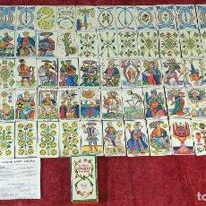 Barajas de cartas: TAROT ESPAÑOL. 78 CARTAS. COMPLETO. REPRODUCCIÓN DE UNO DE 1736. HERACLIO FOURNIER. 1975. . Lote 187665121