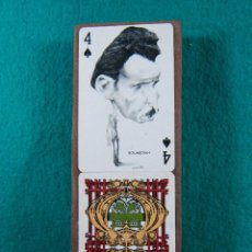 Barajas de cartas: BARAJA NAIPES-POLITICAL TWIN PACK PLAYING CARDS-PICTURED BY PRECIOSOS DIBUJOS DE ORTUÑO-VITORIA-1973. Lote 188415737