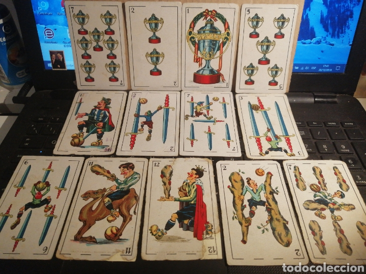 LOTE DE TRECE CARTAS DE LA BARAJA FUTBOL AÑOS 20 CHOCOLATES AMALIA (Juguetes y Juegos - Cartas y Naipes - Baraja Española)