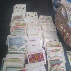 Barajas de cartas: ANTIGUO Y GRAN LOTE DE CARTAS DE MAGO AÑOS 50-60 , 485 CARTAS. Lote 188712958