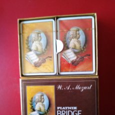 Barajas de cartas: PIATNIK BRIDGE - PLAYING CARDS - W. A. MOZART SIN USO. Lote 189359637