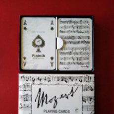 Barajas de cartas: PIATNIK BRIDGE - PLAYING CARDS - W. A. MOZART SIN USO MADE EN AUSTRIA. Lote 189359798