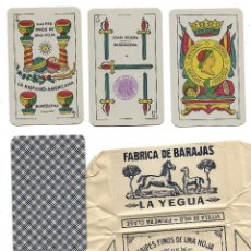 Barajas de cartas: BARAJA LA YEGUA 48 NAIPES. LA HISPANO AMERICANA, TIMBRE EXPORTACION. SIN ESTRENAR.. Lote 189512610