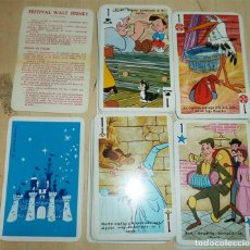 Jeux de cartes: FESTIVAL DISNEY BARAJA INFANTIL FOURNIER CON INSTRUCCIONES SIN CAJA. Lote 189519926