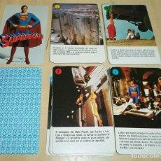 Mazzi di carte: SUPERMAN BARAJA FOURNIER DE CARTAS INFANTIL CON INSTRUCCIONES SIN CAJA. Lote 189520201
