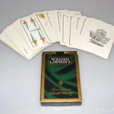 Barajas de cartas: BARAJA ESPAÑOLA FOURNIER 50 CARTAS - FIBRA MARFIL - PUBLICIDAD WILLIAM LAWSON'S.. Lote 189791945