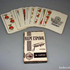 Barajas de cartas: BARAJA ESPAÑOLA FOURNIER 50 CARTAS - FIBRA MARFIL - PUBLICIDAD GIN MG.. Lote 189792000
