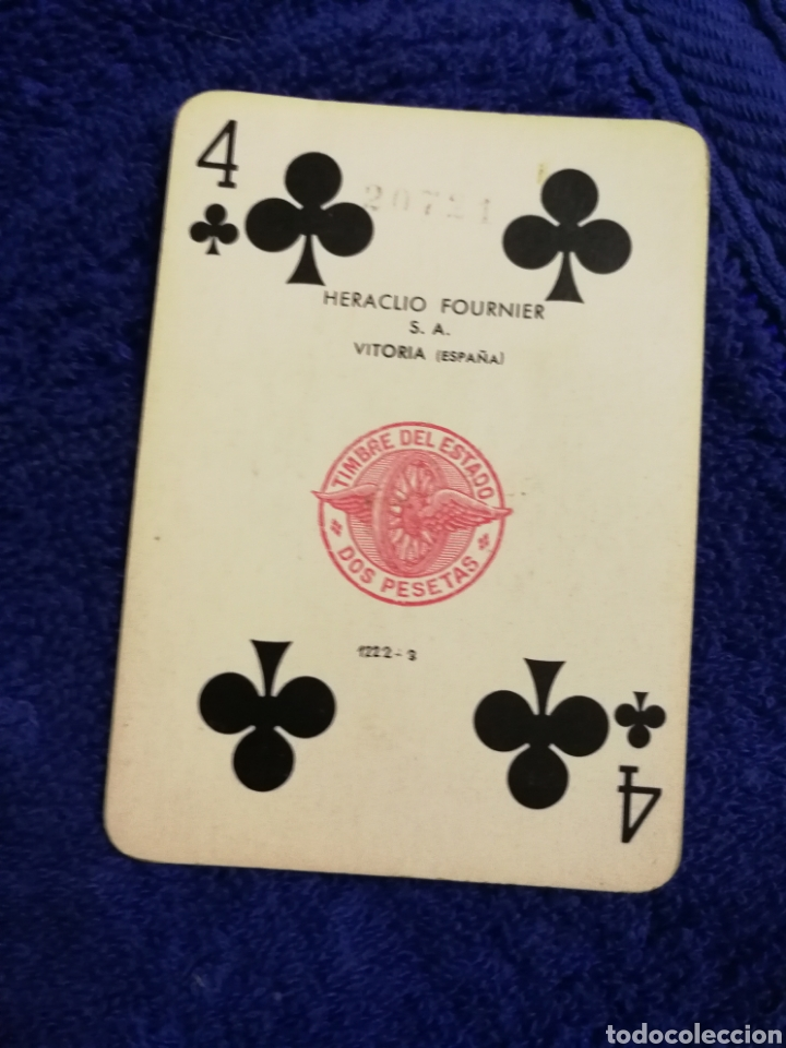 Barajas de cartas: Antigua baraja de poker heraclio fournier - Foto 3 - 189806625