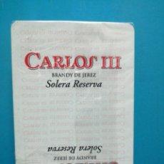 Barajas de cartas: BARAJA CARTAS BRANDY DE RESERVA CARLOS 3 PRECINTADA. Lote 190047777