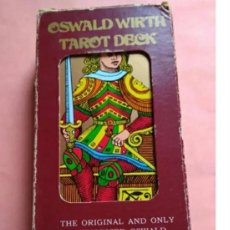 Barajas de cartas: TAROT- OSWALD WIRTH TAROT DECK- THE ORIGINAL AND ONLY AUTHORIZED - USA 1976. Lote 190224148