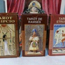 Barajas de cartas: 2+1 GRATIS LOTE TRES BARAJAS DE TAROT. EGIPCIO - RAMSÉS - ETRUSCO.. Lote 190455233