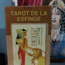 Barajas de cartas: TAROT DE LA ESFINGE. LO SCARABEO.. Lote 190467047