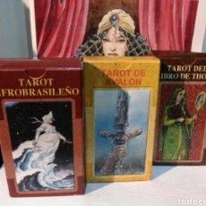 Barajas de cartas: 2+1 GRATIS. LOTE DE 3 TAROT. AFROBRASILEÑO - AVALON -LIBRO DE THOT.. Lote 190469531