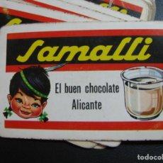 Barajas de cartas: BARAJA PUBLICIDAD CHOCOLATE SAMALLI. ALICANTE. 45 CARTAS . Lote 190523311