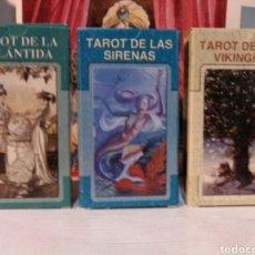 Jeux de cartes: LOTE 3 BARAJAS.TAROT DE LA ATLANTIDA +TAROT DE LAS SIRENAS+TAROT DE LOS VIKINGOS.NUEVOS!!. Lote 190530837