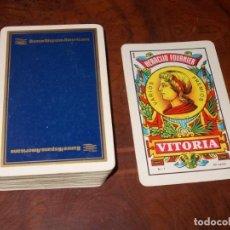 Barajas de cartas: BARAJA HERACLIO FOURNIER CON PUBLICIDAD BANCO HISPANO AMERICANO, 40 CARTAS.. Lote 190549998