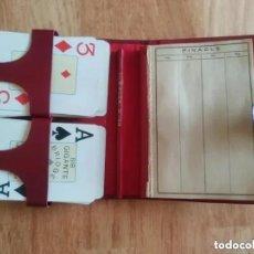 Barajas de cartas: ANTIGUO ESTUCHE CARTAS BARAJA PINACLE. Lote 190581732