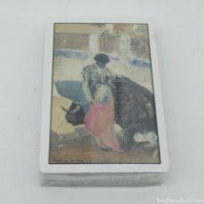 Barajas de cartas: ANTIGUA BARAJA DE PÓKER FOURNIER CON MOTIVO TAURINO EN EL DORSO, ILUSTRACIÓN DE MARTÍNEZ DE LEÓN. Lote 190636650