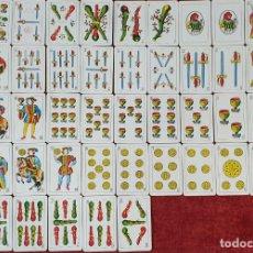 Barajas de cartas: JUEGO DE 50 CARTAS. NAIPES OPACOS COMAS. Nº 40. TIMBRE ROJO. CIRCA 1950. . Lote 190793892