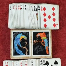Barajas de cartas: JUEGO DE 104 CARTAS. DOBLE BARAJA. HERACLIO FOURNIER. TIMBRE ROJO. CIRCA 1950.. Lote 190796525