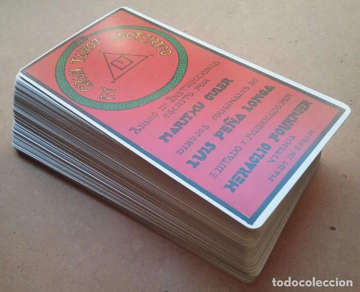 Barajas de cartas: TAROT ESOTÉRICO MAZO ARCANOS FOURNIER 1976 - Foto 2 - 190859817