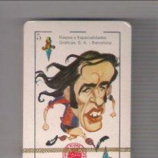 Barajas de cartas: BARAJA ESPAÑOLA NAIPES HUMORÍSTICOS CARICATURAS DEPORTISTAS DE 1975 DE EDICIONES AMAIKA. PRECINTADA.. Lote 191068410