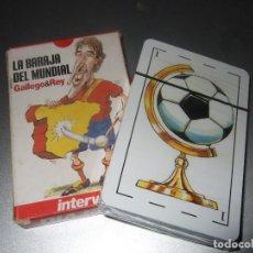 Barajas de cartas: BARAJA DE CARTAS MUNDIAL DE FUTBOL GALLEGO Y REY PRECINTADA. Lote 191128372