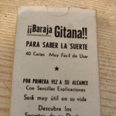 Barajas de cartas: BARAJA GITANA . PARA SABER LA SUERTE - CARTAS NAIPES TAROT SECRETOS DEL DESTINO Y DEL AJENO. Lote 191130508