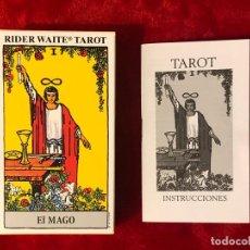 Barajas de cartas: BARAJA TAROT RIDER WAITER EM CASTELLANO. Lote 191284392
