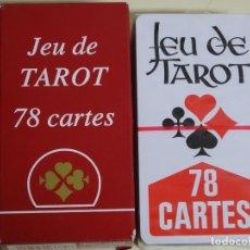Barajas de cartas: BARAJA DE CARTAS DE TAROT FRANCÉS. JEU DE TAROT. PRECINTADA. 180GR. Lote 191304066