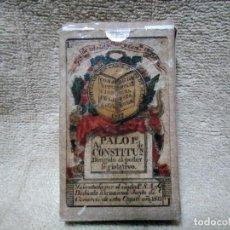 Barajas de cartas: REPRODUCCION DE ANTIGUA BARAJA DE LA CONSTITUCION DE CADIZ. Lote 191305647