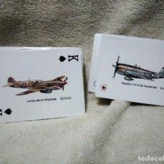 Barajas de cartas: BARAJA DE AVIONES DE LA 2ª GUERRA MUNDIAL. Lote 191307010
