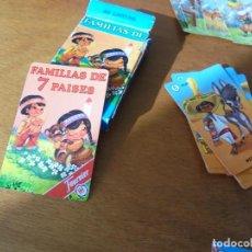 Barajas de cartas: BARAJA FAMILIAS DE 7 PAÍSES. NAIPES HERACLIO FURNIER S.A.. Lote 191426220