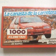 Barajas de cartas: FOURNIER 1000 KILÓMETROS LA CANASTA DE LA CARRETERA (VINTAGE) CAJA SIN DESPRECINTAR. Lote 191482797