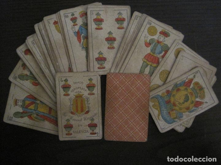 Barajas de cartas: BARAJA DE CARTAS ANTIGUA-MANAUT HERMANOS-VALENCIA-40 CARTAS-VER FOTOS-(V-18.789) - Foto 2 - 191495153