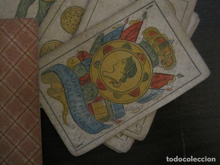 Barajas de cartas: BARAJA DE CARTAS ANTIGUA-MANAUT HERMANOS-VALENCIA-40 CARTAS-VER FOTOS-(V-18.789) - Foto 3 - 191495153