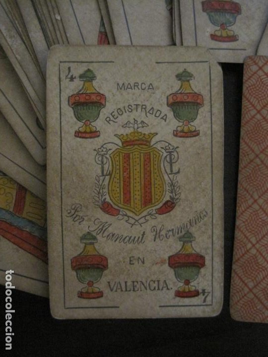 Barajas de cartas: BARAJA DE CARTAS ANTIGUA-MANAUT HERMANOS-VALENCIA-40 CARTAS-VER FOTOS-(V-18.789) - Foto 4 - 191495153