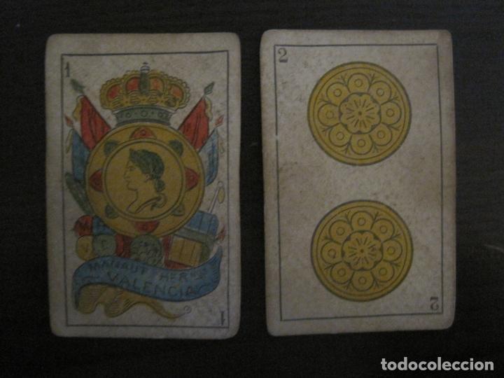 Barajas de cartas: BARAJA DE CARTAS ANTIGUA-MANAUT HERMANOS-VALENCIA-40 CARTAS-VER FOTOS-(V-18.789) - Foto 5 - 191495153