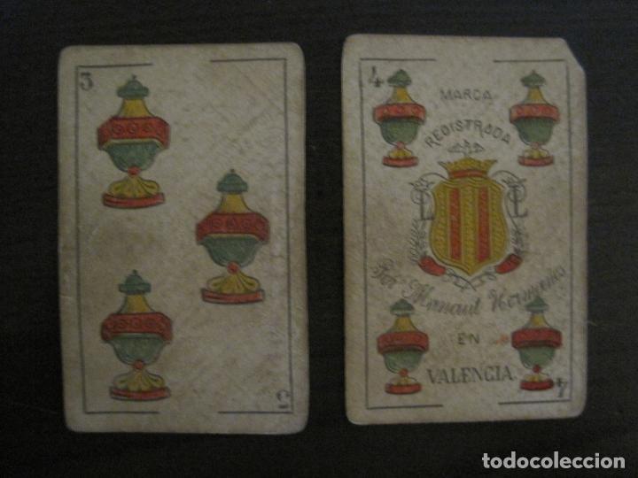 Barajas de cartas: BARAJA DE CARTAS ANTIGUA-MANAUT HERMANOS-VALENCIA-40 CARTAS-VER FOTOS-(V-18.789) - Foto 17 - 191495153