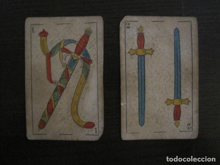 Barajas de cartas: BARAJA DE CARTAS ANTIGUA-MANAUT HERMANOS-VALENCIA-40 CARTAS-VER FOTOS-(V-18.789) - Foto 25 - 191495153